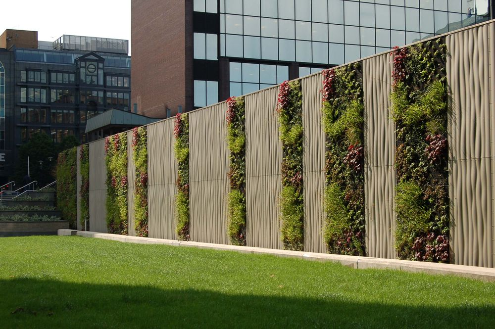 Vertikale begr nung gr ne w nde - Vertikale wandbepflanzung ...